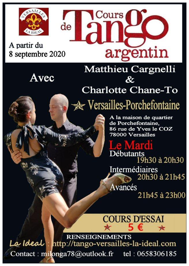 Cours de tango à Versailles